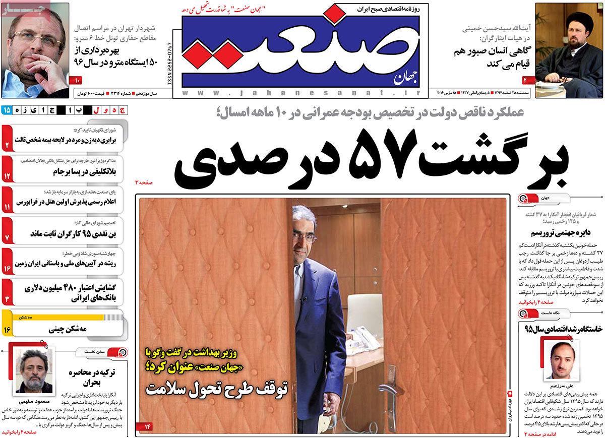 صفحه اول روزنامه ها روزنامه های صبح امروز روزنامه های اقتصادی روزنامه بورس اخبار بورس