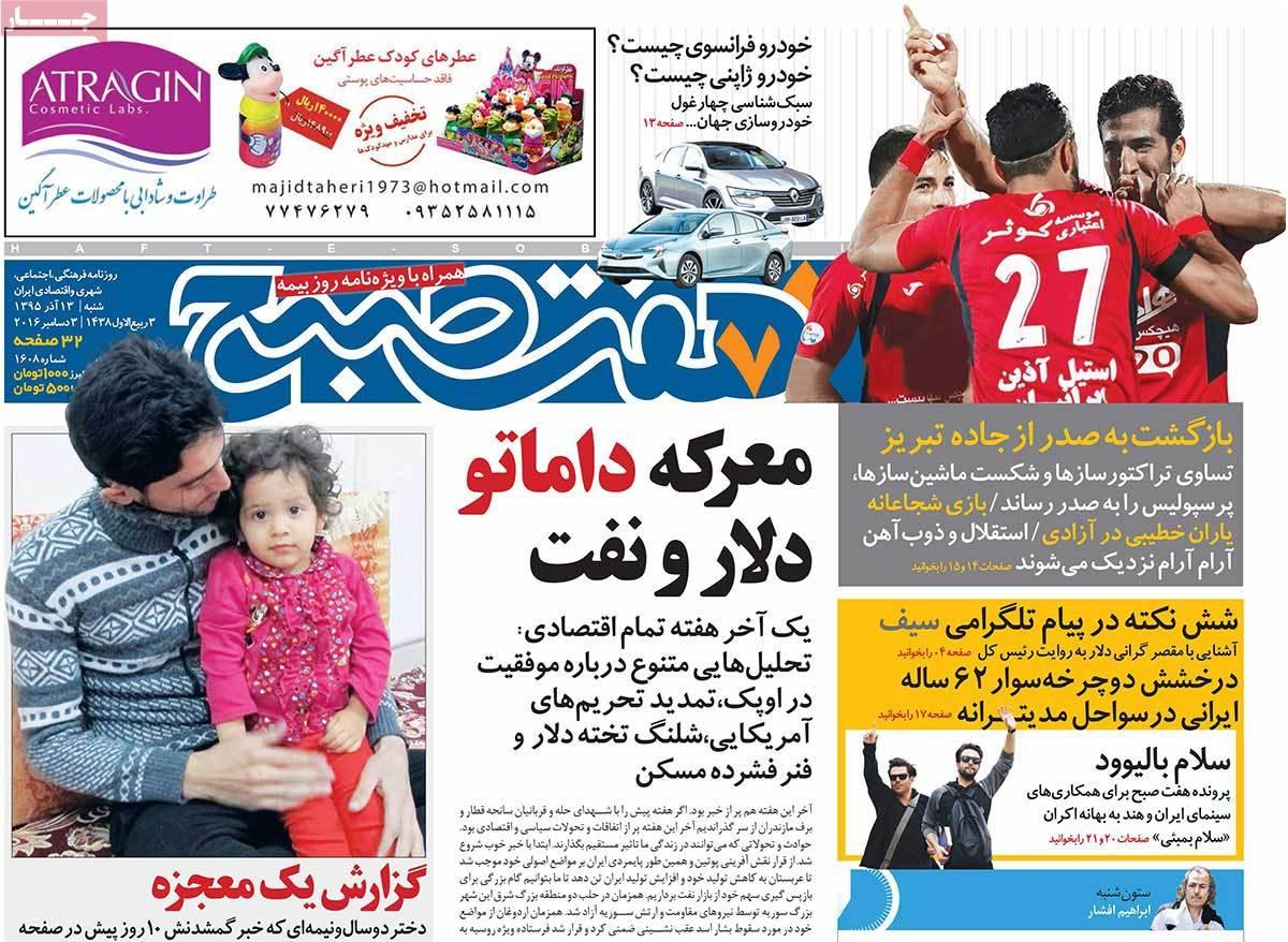 روزنامه هفت صبح :  منتشر یا به روزرسانی نشده است.